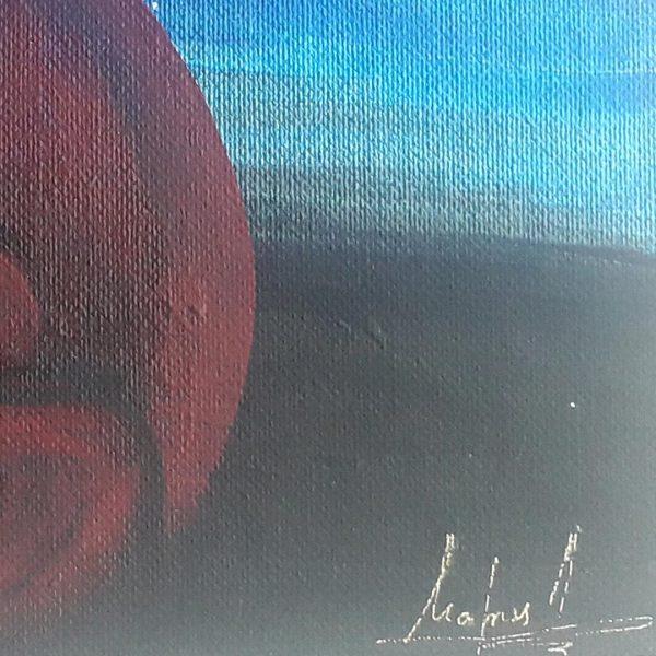 Flamenko, Original Mandala Painting by Maria Derova