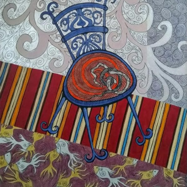 "Homesickness, Acrylic Ink Painting 22x15"" (55x37cm)"