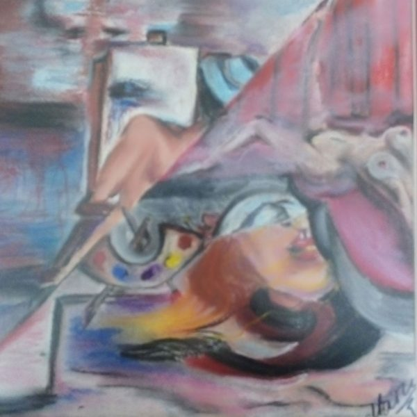 The Art of Passion, Dry Pastel Painting by Magdalena Peycheva