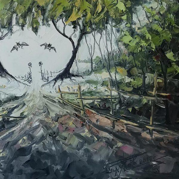 Halloween, Oil Painting by Georgi Paunov - Son