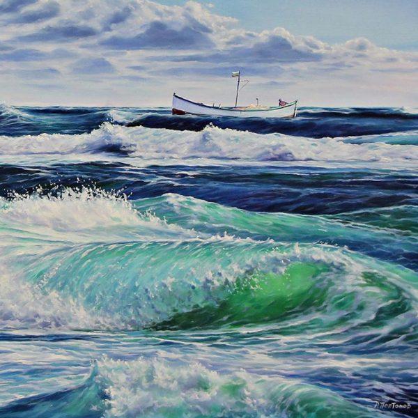 Seascape, Oil Painting by Rosen Poptomov