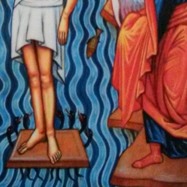 Jesus Christ Epiphany, Christian Icon by Nelly Jordanova