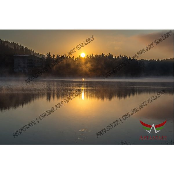 Sunset, Digital Photo - Stock Image