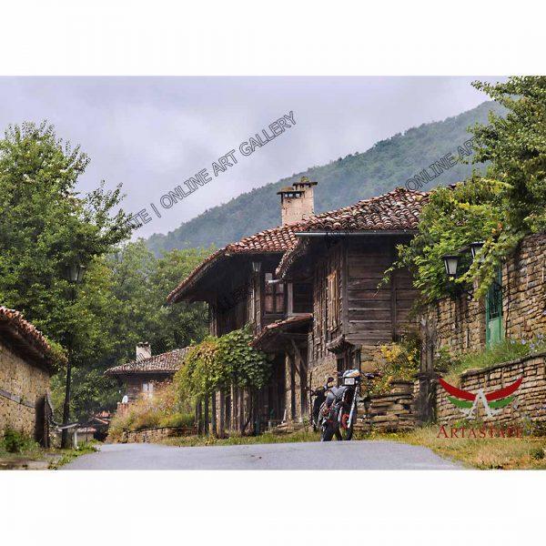 Old House, Digital Photo - Stock Image
