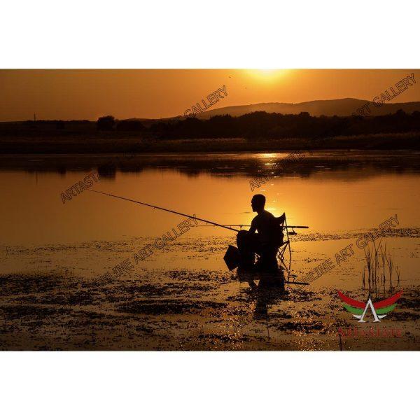 Fisherman, Digital Photo - Stock Image