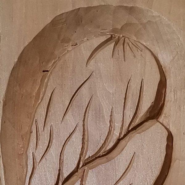 Sin, Original Woodcarving by Nikifor Nikiforov