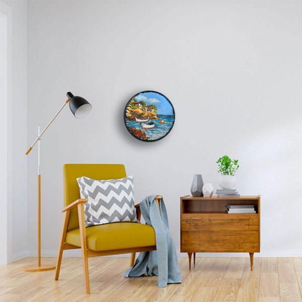 Seascape, Painted Plate by Milena Kamburova