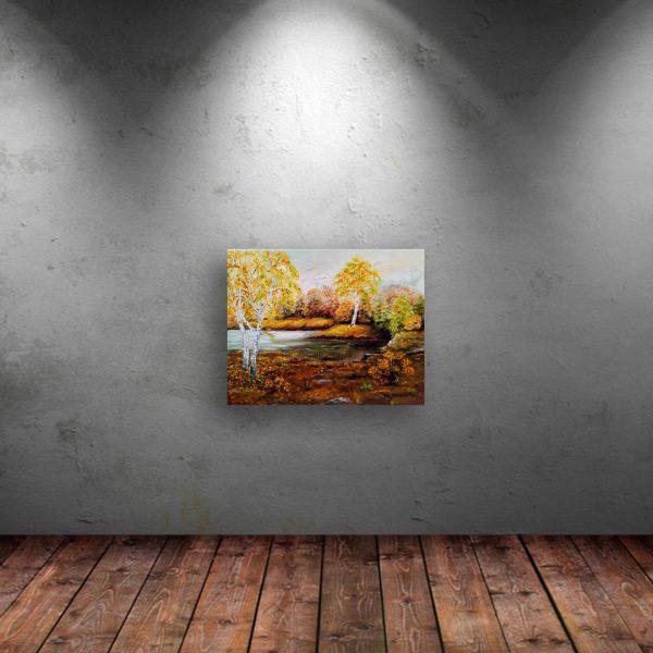 Golden Autumn, Oil Painting by Ivanka Alexieva