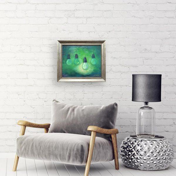 Bulbs, Oil Painting by Neda Nacheva