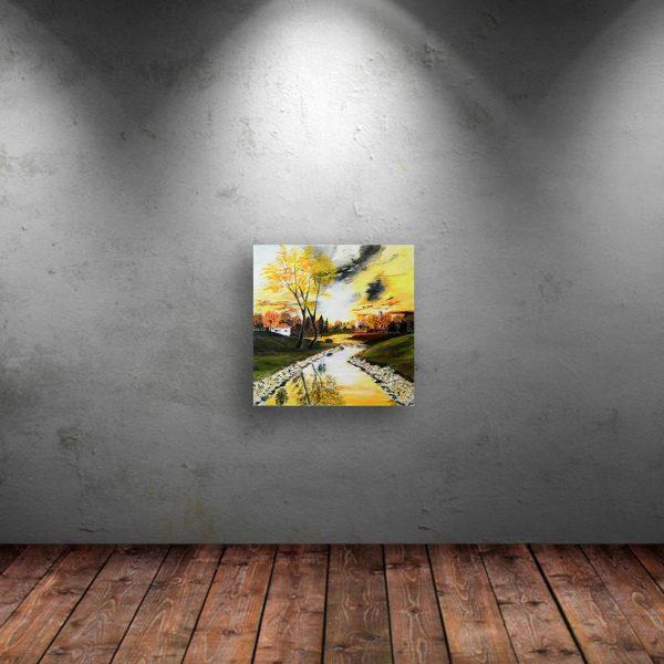 Outside, Acrylic Painting by Ivanka Alexieva