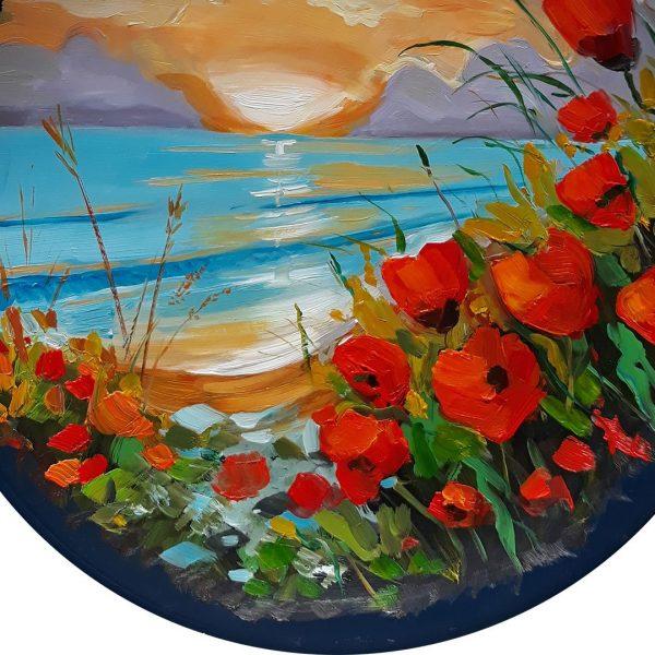 Sunset, Painted Plate by Milena Kamburova
