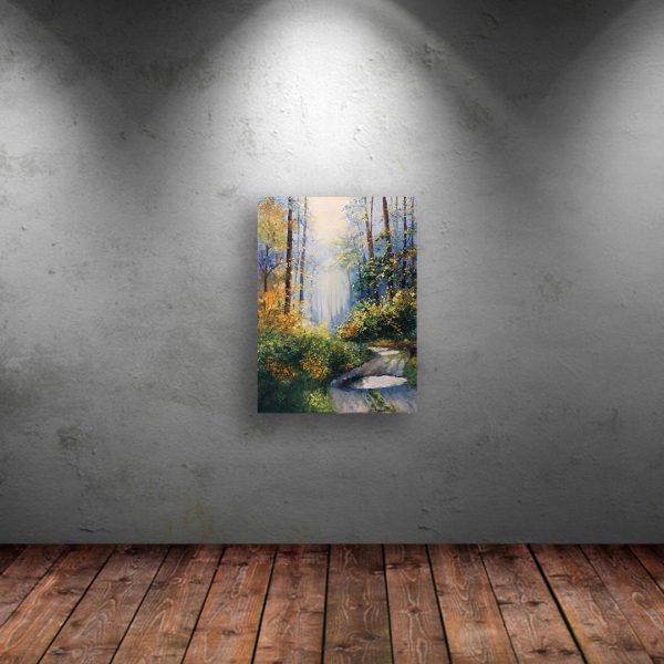 Sunny Path, Oil Painting by Elena Velichkova