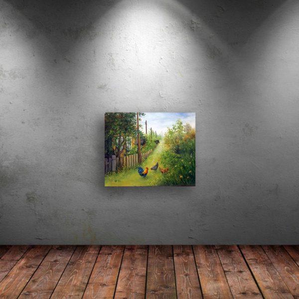 Rural Idyll, Oil Painting by Elena Velichkova