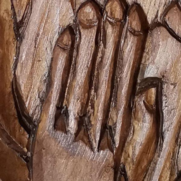 Pray, Original Woodcarving by Nikifor Nikiforov