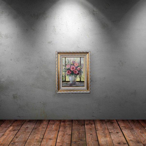 Refined Vase, Oil Painting by Neda Nacheva