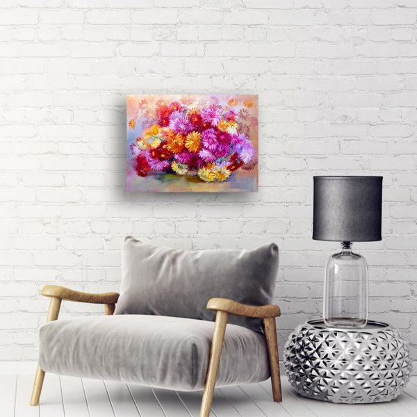 Chrysanthemums, Oil Painting by Rumyana Petkova