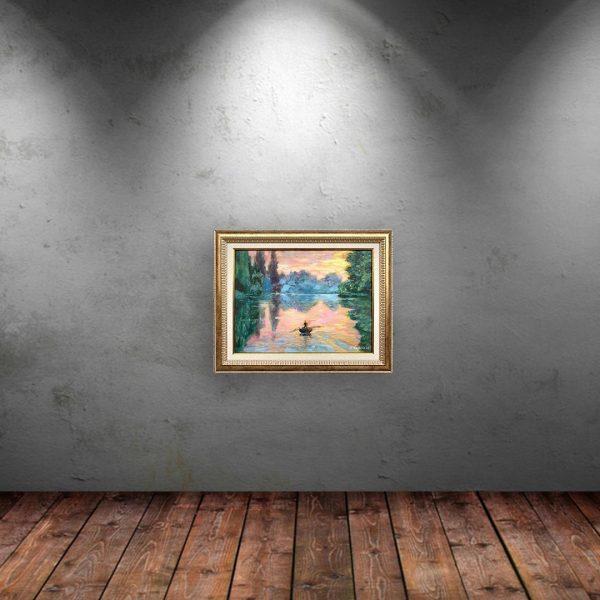 The Lake, Oil Painting by Neda Nacheva