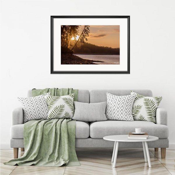 Sunset, Photography Framed Art Print by Raina Sind