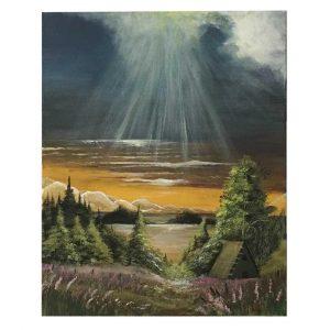 "Storm, Acrylic Painting 20x17"" (50x43cm)"